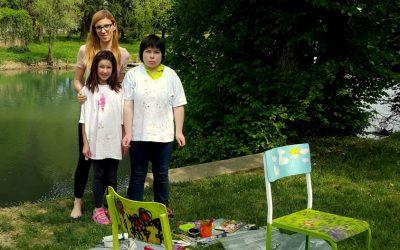 S stolom na 28. otroški likovni extempore v Kostanjevico na Krki