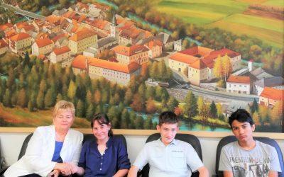 Sprejem uspešnih osnovnošolcev pri županji Črnomlja