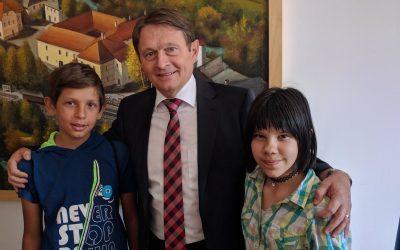 Sprejem uspešnih učencev pri županu Občine Črnomelj